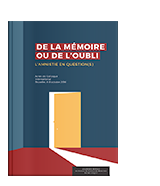 De la mémoire ou de l'oubli. L'amnistie en question(s)